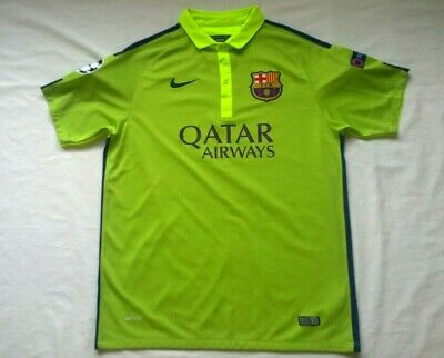 4072608ccd8 Nike Mens Xl Barcelona Lime Green Jersey Soccer Futbol Minty Condition FCB  Sweet