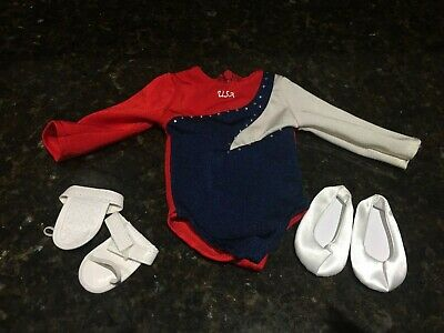 American Girl 2018 Blue Pink STAR GYMNASTICS SET outfit for balance beam or doll