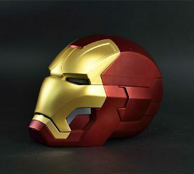 Fine 1:1 Full metal The Avengers Iron Man MK42 with LED eye Helmet Remote Decor