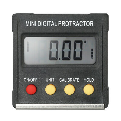 Mini LCD Digital Protractor Inclinometer Angle Finder Bevel Box Magnet Base D5I4