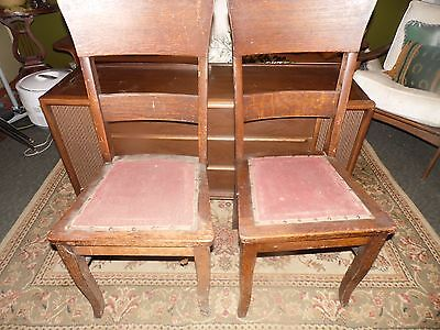 Antique Hersee & Company Side 2 Chair Craftman Ladder Back Buffalo NY
