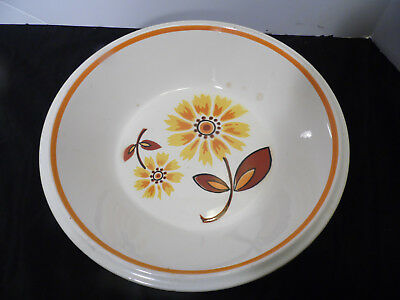 Vintage Mikasa Light N Lively Stoneware Bowl Pasta Serving B Yellow Daisy Flower