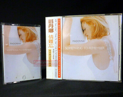 Madonna Something To Remember Taiwan Cassette + CD w/OBI & Booklet hits madame x