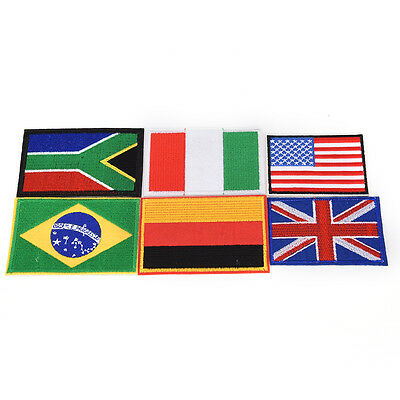 National Nation World Country Emblem Flag Embroidered Sew On Patch Badge LD