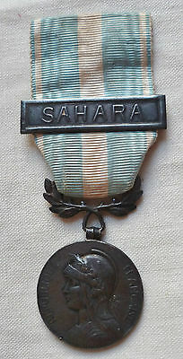 MEDAILLE COLONIALE agrafe SAHARA à clapet ORIGINAL Argent FRENCH MEDAL ORDER