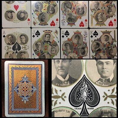 1896 Historic Early USPCC Show Biz Masterpiece Antique Playing Cards Deck 52/52