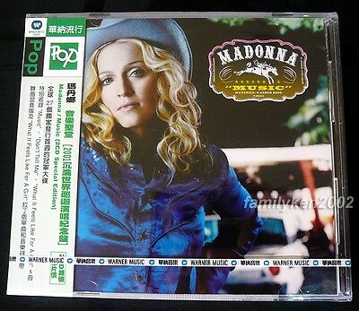 Madonna 2002 MUSIC EXCLUSIVE! Taiwan 2-CD w/OBI SEALED Drowned World madame x