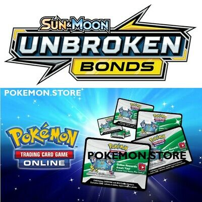 36 Unbroken Bonds Codes Pokemon TCG Online Booster- sent INGAME / EMAILED FAST