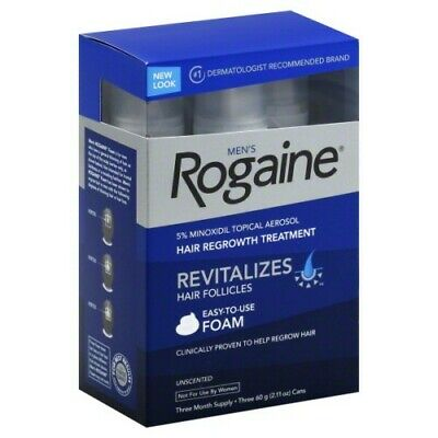 Men's Rogaine 5% Minoxidil Hair Regrowth Treatment Foam - 3 Months Supply -...