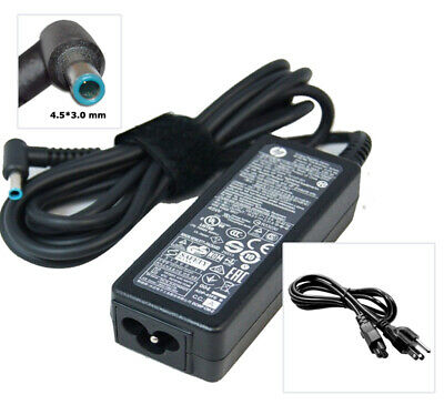 [C] Genuine Original HP 45W  AC Adapter  Charger + Power cable HSTNN-DA40
