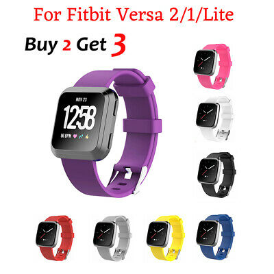 Replacement Band for Fitbit Versa/Lite Silicone Strap Wristband Fitness Tracker