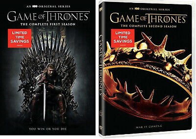 Game of Thrones Complete First Second Seasons 1 2 DVD Brand NEW 20-Episodes HBO