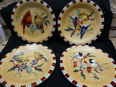 "Lenox Winter Greetings Everyday 8 1/2"" Salad / Dessert Plates SET OF 4"