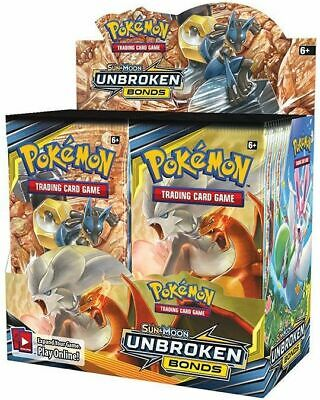 Pokemon Sun and Moon Unbroken Bonds Booster Packs BRAND NEW - 10x BOOSTER PACK