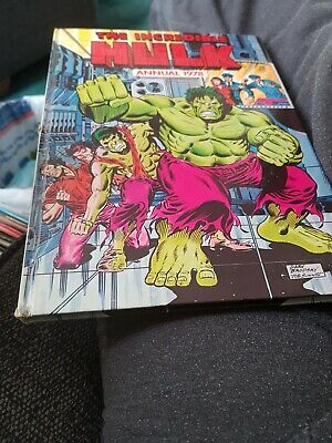 Incredible Hulk Annual 1978 X 1ST ISSUE X VERY GOOD CONDITION  X VERY RARE 1829