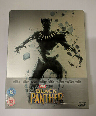 Black Panther (Zavvi Exclusive OOP - Blu-ray 3D Steelbook w/ Slipcover, 2018)