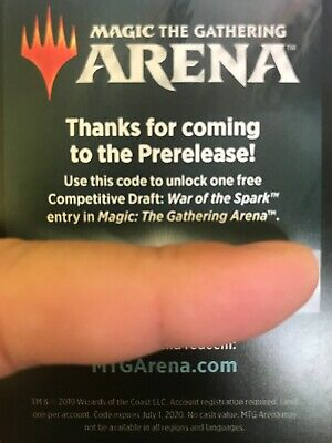 MTGA Magic Arena Competitive draft Event Entry War of the Spark EMAIL