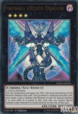 Yugioh - 1x Firewall eXceed Dragon - DANE-EN036 - UR - 1st Ed - NM/M