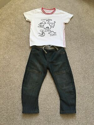 Next Boys Top And Blue Zoo At Debenhams Jeans Age 4 Years