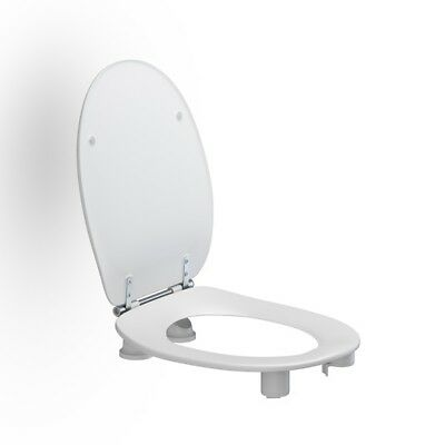 Pressalit Care Dania 50mm Raised Height Toilet Seat with Cover - White R33000