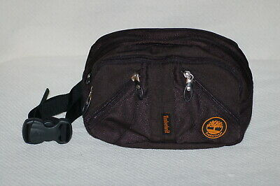 fe29186833f Timberland Fanny Pack Waist Bag - Black with Orange Logo - Four Zippers