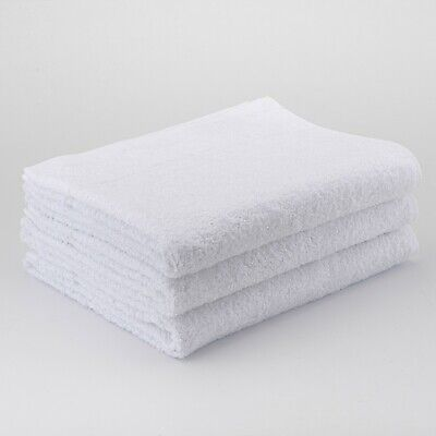 24 x White Hairdressing Towels Salon Beauty Barber Towels Gym Spa 50x85cm