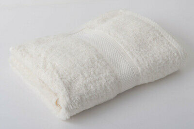 12 X Cream Luxury 100% Egyptian Cotton Hairdressing Towels / Salon / 50x85cm