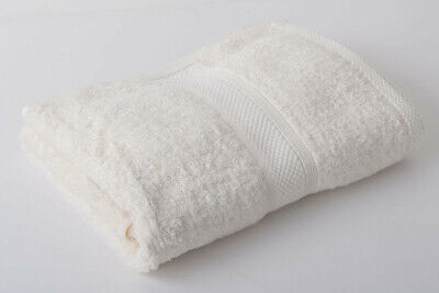 12 x Cream Luxury 100% Egyptian Cotton Hairdressing Towels Salon Beauty 50x85cm