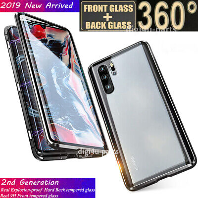 Huawei P20 Mate 20 P30/Pro/Lite Magnetic Adsorption 360° Protective Cover Case