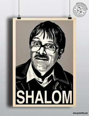 JIM (Friday Night Dinner) SHALOM Minimalist Hope Poster Posteritty Print Jackie