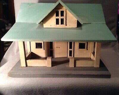 Antique Wood Hand Crafted Folk Art House