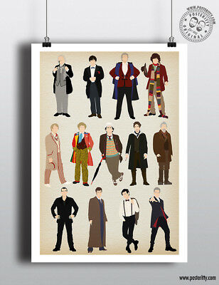 13 Doctors DOCTOR WHO - Minimalist Poster Minimal New Dr Print Whovians Art