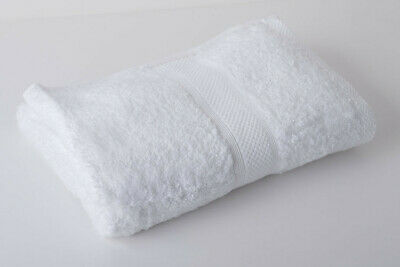 12 X White Luxury 100% Egyptian Cotton Hairdressing Towels / Salon / 50x85cm
