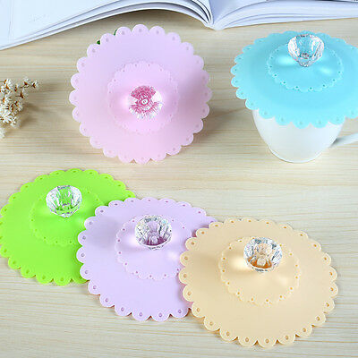 Silicone Cup Lids Diamond Mug Cover Silicone Glass Cover Suction Hot