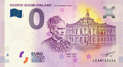 Billet Touristique 0 Euro ---  Kuopio Suomi-Finland City of Minna Canth  2018-1