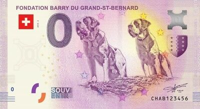 Billet Touristique 0 Euro - Fondation Barry du Grand St Bernard - 2018-2