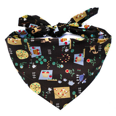Gardening/ allotment Dog bandana, UK Handmade, gift for gardeners, tie on style