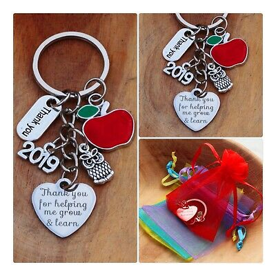 THANK YOU GIFT FOR TEACHER -Teaching assistant,Nursery teacher Keyring 2019 (02)