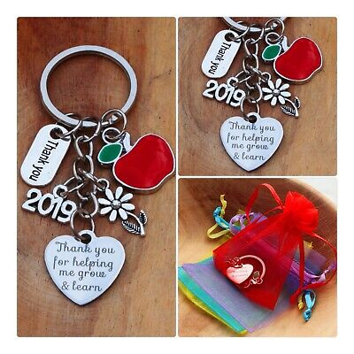 THANK YOU GIFT FOR TEACHER -Teaching assistant,Nursery teacher Keyring 2019 (03)