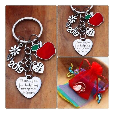 THANK YOU GIFT FOR TEACHER -Teaching assistant,Nursery teacher Keyring 2019 (04)