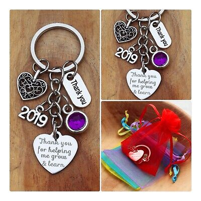 THANK YOU GIFT FOR TEACHER -Teaching assistant,Nursery teacher Keyring 2019 (06)