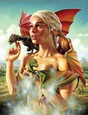 GAME OF THRONES GOT Daenerys Targaryen Dragon Inspired Vintage Metal Poster Sign