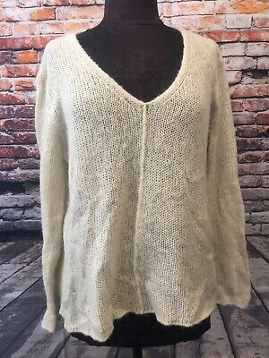 Wooden Ships Anthro Blue Cable Knit Sweater 2500 Picclick