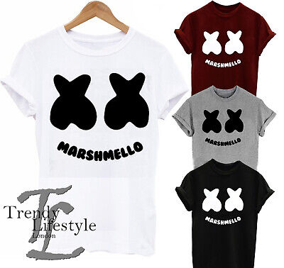 Dj Marshmellow Music Super Trendy Cool Geek T-Shirt 4 Colors