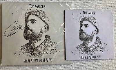 Tom Walker - What A Time To Be Alive Hand Signed Sealed Cd Autographed + Coaster