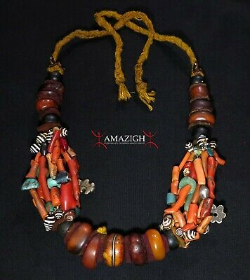 Antique Berber Necklace - Tamegroute, Draa Valley, Morocco - Outstanding Piece