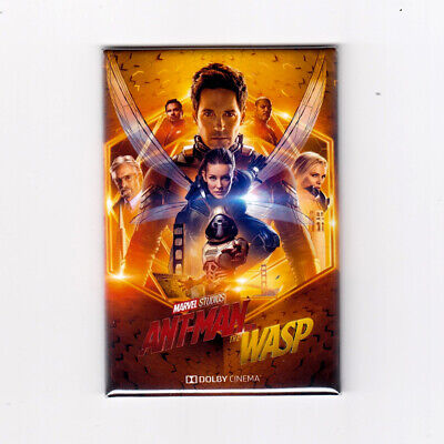 """ANT MAN & THE WASP / GOLD - 2"""" X 3"""" POSTER MAGNET (avengers endgame marvel and"""