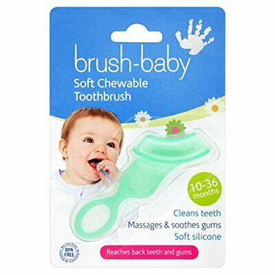 Brush Baby Soft Chewable Toothbrush Massages & Soothes Gums 10-36 Months