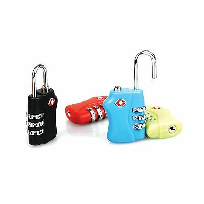 4 X TSA Approved Code Combination Travel Suitcase Luggage Padlock Secure Lock