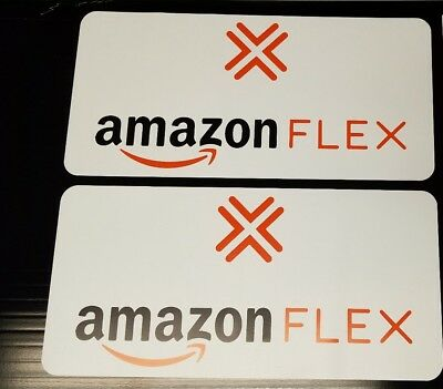 "2 AMAZON FLEX Delivery Magnet CAR Truck Van VEHICLE SIGN   6"" x 12"" removable"